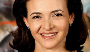 Sheryl Sandberg with her elegant smile